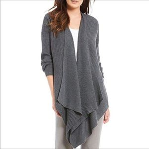 Eileen Fisher Open Front Angled Cardigan